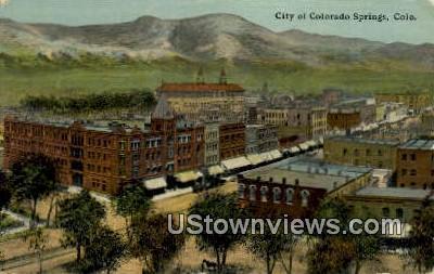 Colorado Springs, Colorado Post Card     ;     Colorado Springs, CO