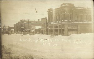 Brookings SD North on Main St. 1917 Real Photo Postcard