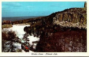New York New Paltz Lake Mohonk Mountain House Winter Scene