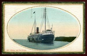 dc1232 - FORT WILLIAM Ontario Postcard 1913 Steamer SS ALBERTA