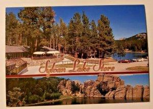 VTG Postcard Sylvan Lake Resort Custer State Park Black Hills South Dakota  737