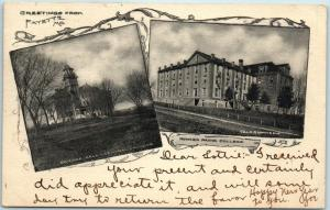 Fayette, Missouri Postcard HOWARD PAYNE COLLEGE 2 Building Views - 1907 Cancel