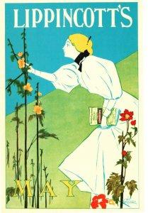 Vintage Postcard Lippincotts Magazine May William Carqueville Geboren