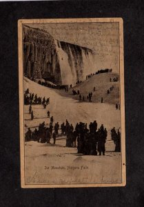 NY Niagara Falls Ice Mountain Walking 1907 New York Postcard UDB