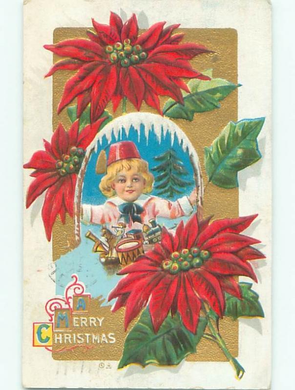Divided-Back KIDS AT CHRISTMAS SCENE Great Postcard W8399