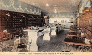 Washington DC Demonet's Lunch Restaurant Interior Vintage Postcard AA20942