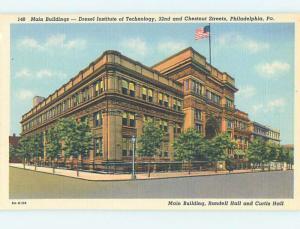 Linen DREXEL INSTITUTE OF TECHNOLOGY BUILDING Philadelphia Pennsylvania PA J8288