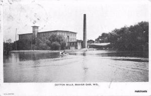 1907 Beaver Dam Wisconsin Cotton Mills Lawton Factory Industry 3126