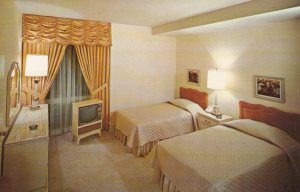 DENVER, Colorado, 1950-60s; Twin-bedded room at New Albany Hotel