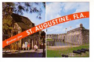 TwoView, Greetings from St Augustine, Family in Front of School Hose, Monumen...