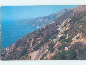 Pre-1980 NATURE SCENE Big Sur - Near Carmel California CA AD2728