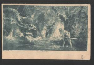 119281 WAGNER Opera SIEGFRIED Idyll DRAGON by HENDRICH vintage