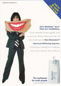 Advertising New Mentadent Toothpaste