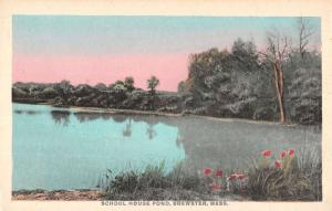 Brewster Massachusetts School House Pond Scenic View Antique Postcard K25056
