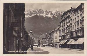 RP; Innsbuck Maria Theresienstrasse mit Nordkette, Tirol, Austria, 10-20s