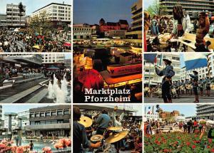 Marktplatz Pforzheim multiviews Marktplatzfest Gruschtelmarkt Blumen Postcard