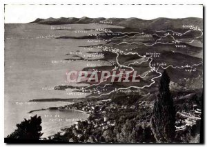 Modern Postcard The French Riviera from Menton to Cannes flight Bird
