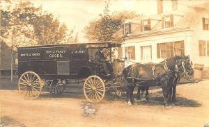 Bangor ME J. A. Ray Boot & Shoes Dry Goods Horse & Wagon RPPC Postcard