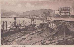Harbour Port Ship Docks Bougie Algeria Antique Algerian Mediterranean Postcard