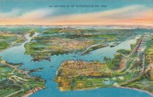 California San Francisco Air View Of The Metropolitan Bay Area