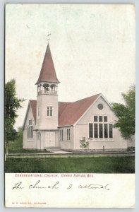 Grand Rapids Wisconsin~Congregational Church~Wind Vane on Bell Tower~1907