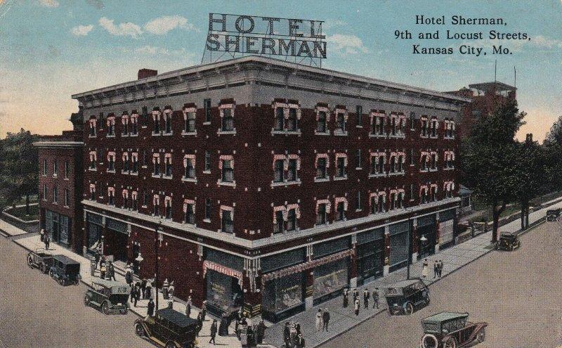 KANSAS CITY, Missouri, PU-1918; Hotel Sherman, 9th and Locust Streets