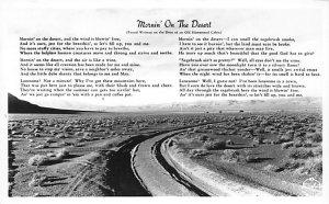 Poetry Post Card Mornin' on the Desert Unused