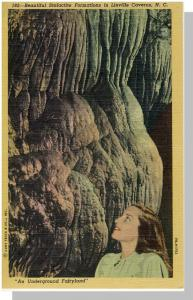 Linville Caverns Postcard, NC/North Carolina, Near Mint!