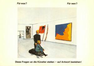 Art Postcard, Fur Was ? Fur Wen ? (1972) by Jorg Immendorff 73U