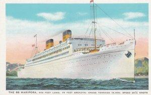 Hawaii Stop Ocean Liner SS MARIPOSA , 1910s