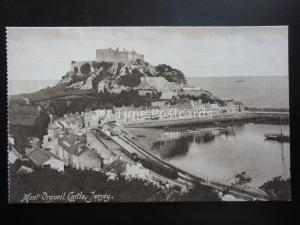 Isle of Jersey MONT ORGUEIL CASTLE & RAILWAY ST. - Old Postcard by Philco 4595/9