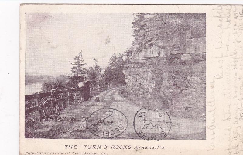 ATHENS, Pennsylvania, PU-1905 ; The TURN O'ROCKS