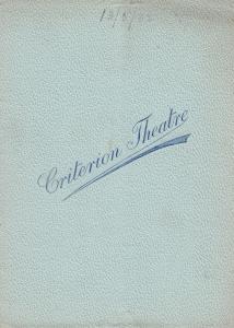 A Country Mouse Gerald Du Maurier Criterion London Theatre Programme