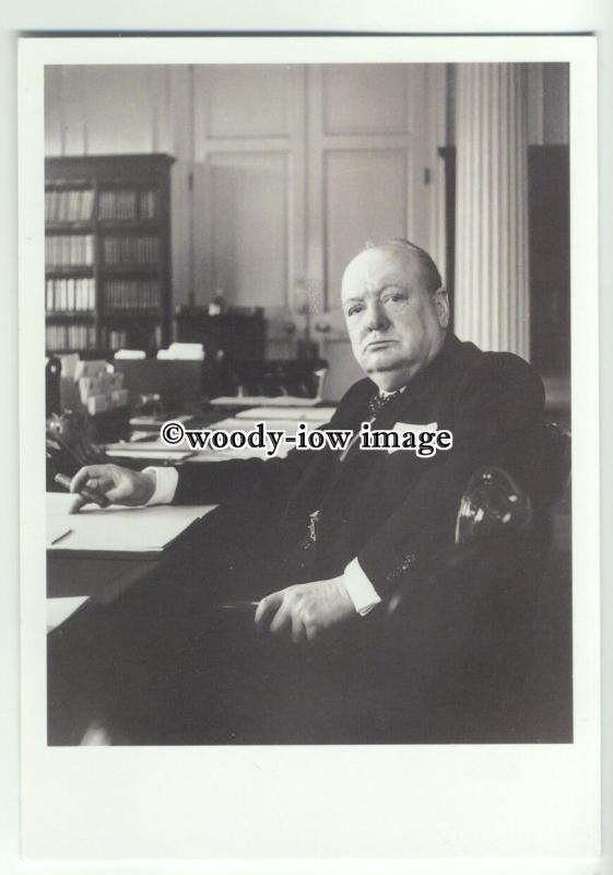 su2703 - Sir Winston Spencer Churchill, sold to help Nat.P.Gallery - postcard