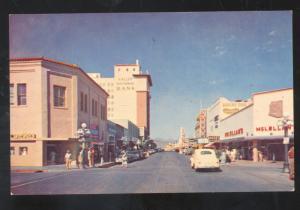 TUCSON ARIZONA DOWNTOWN STREET SCENE 1940's CARS VINTAGE POSTCARD