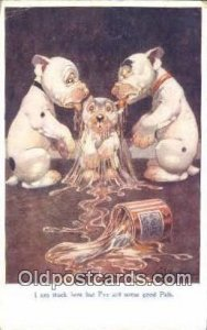 Artist Studdy Bonzo Dog Series 1041 1926 light crease with wear left top co...