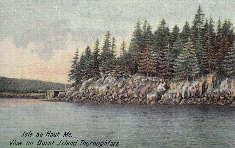 ISLE AU HAUT, Maine, 1900-1910s; View On Burnt Island Thoroughfare