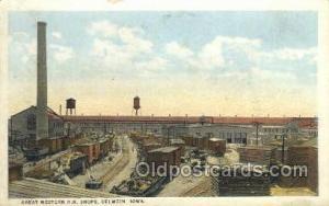 Great Western RR Shops, Oelwein, IA, Iowa, USA Train Railroad Station Depot P...