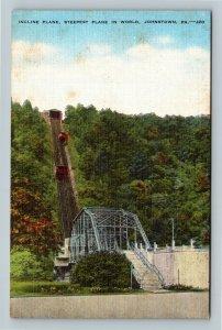 Johnstown PA, Steepest Incline Plane In World, Linen Pennsylvania Postcard