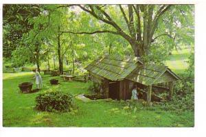 Springhouse, Vance Birthplace State Historic Site, Asheville, North Carolina,...