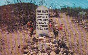 Arizona Tombstone John Heath Grave Boothill Graveyard