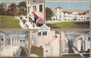 Colfax Iowa Hotel Mineral Springs Bath Multiview Antique Postcard K83026