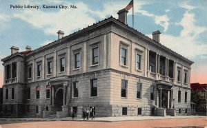 Public Library, Kansas City, Missouri, Early Postcard, Unused