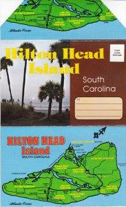 Folder postcard , HILTON HEAD , South Carolina , 50-60s