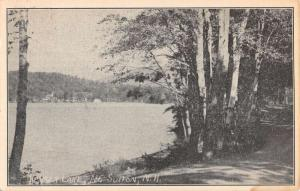 North Sutton New Hampshire Keyser Lake Waterfront Antique Postcard K89612