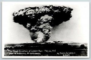 Anderson California~Lassen Peak Volcanic Eruption~May 22 1915~1950s RPPC REPRINT