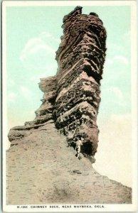 Vintage 1920s CHIMNEY ROCK, Oklahoma Postcard near Waynoka Fred Harvey #H-1668