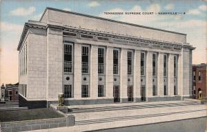 Tennessee Supreme Court, Nashville, Tennessee, Early Linen Postcard, Unused