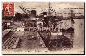 Bordeaux - The Boat Docks - Old Postcard