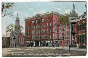 Portland, Me, Y.M.C.A. Building and Free St. Baptist Church, Congress Square